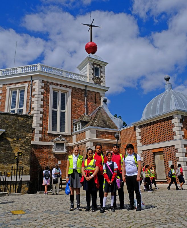 Year 5 at the Royal Observatory, Greenwich, learning about the prime meridian
