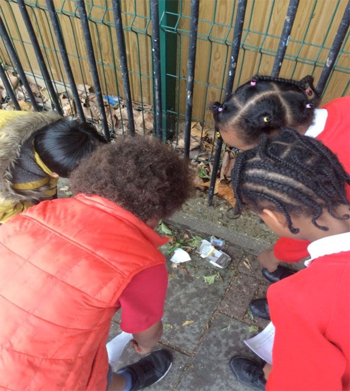 Year 3 in the local area on a litter survey
